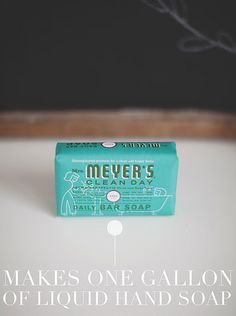 DIY Mrs. Meyers Liquid Hand Soap -$3.99 for a gallon by Vanilla and lace