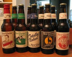 New Glarus Brewing Company beer! Micro brewed in New Glarus, Wisconsin! Totally Naked and Spotted Cow are among my favorite beers of all time!