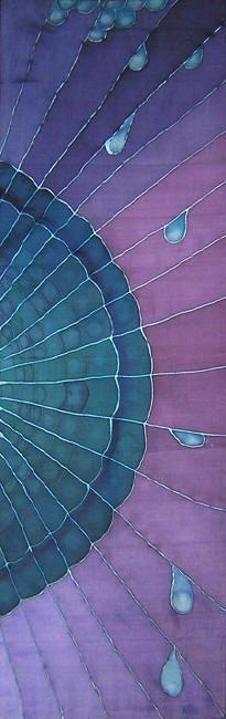 hand-painted silk sc