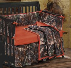 Camo Nursery Theme | Baby Oak Camo Crib Bedding Ensemble | Western, Southwest and Lodge ...