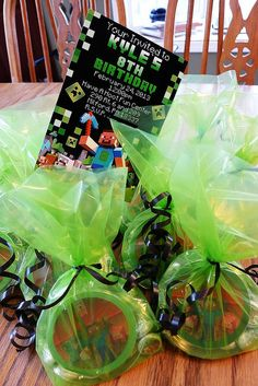 Minecraft Party Favors by Kids Birthday Parties, via Flickr