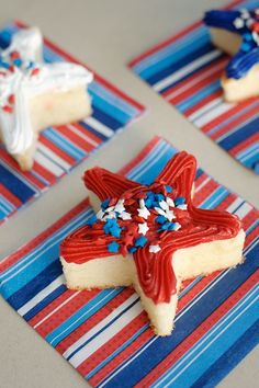 Star cakes for 4th of July