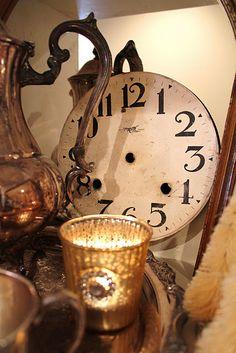 Pretty old clock face