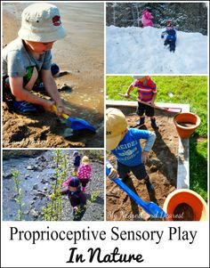 Proprioceptive Sensory Play in Nature. Sensory development through outdoor play.