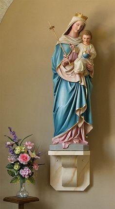 Catholic Religious Saint Statues | Saint Ignatius Loyola Roman Catholic Church, in Concord Hill, Missouri ...