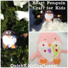 {QuickKidsCrafts.com} - Heart Penguin Craft for Kids