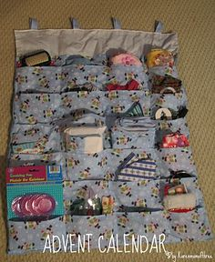 Karen Mom of Three's Craft Blog: Advent Calendar of Doll items I have been working on since May