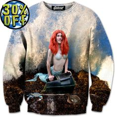 'The Little Merman' Wave Rider Sweatshirt by Beloved Shirts @waverider_