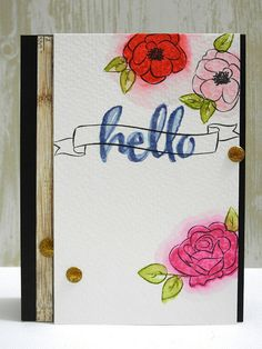 Floral Hello by Jennifer Ingle using Winnie & Walter stamps