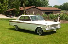 1963 FORD FAIRLANE 500 - 2 DOOR SEDAN  My first car.  Mine was a light tan color, 260 V8,  3 speed manual shift on the column.