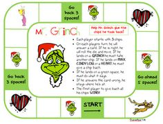 Great GRINCH game for practicing any flashcards. Dr. #Seuss