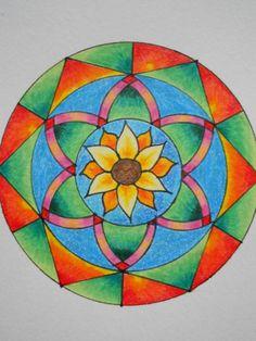 Geometric art  Mandala design  Original by CuteCreationsByLea, $10.00