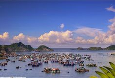 Floating Villages near Cat Ba Island, Vietnam