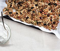 A better granola (egg whites add crunch without added fat)