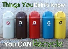 Things you didn't know you can recycle via greenchildmagazine.com