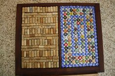 A corkboard and magnetic board I made with and old window frame.