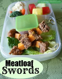 Meatloaf School Lunch - healthy and delicious! MOMables.com