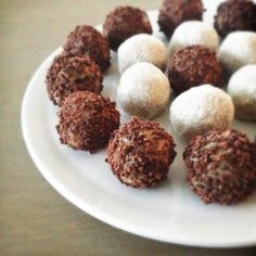 Sweet Marzipan Truffles made with almond flour and dates -- a sweet no-cook treat for after the Fast Metabolism Diet!