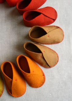 FREE PATTERN Felt Baby Shoes – Sewing DIY TUTORIAL