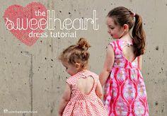 little dresses, dress patterns, sweetheart dress, little girls, kids clothes, dress tutorials, sew pattern, little girl dresses, sewing patterns