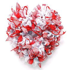 Valentine Heart Deco Mesh Wreath from Creative Gift Packaging