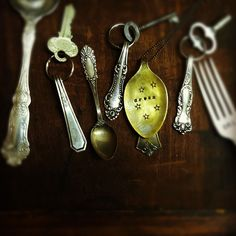 Stamped Silverware jewelry and spoon necklaces