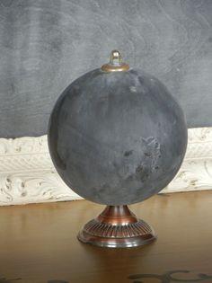 Chalk Board Painted Globe