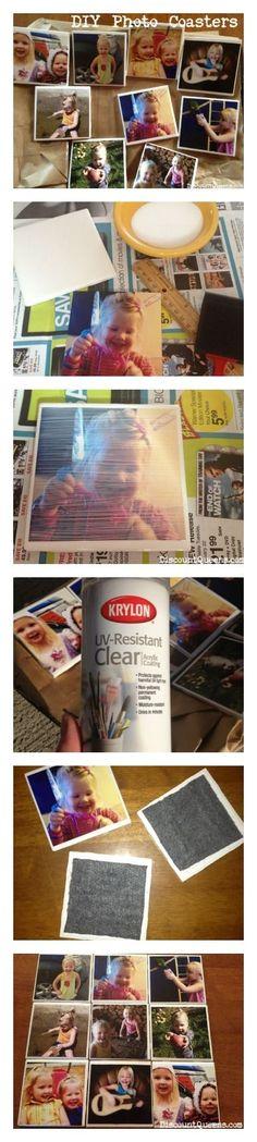 52 Weeks of Pinterest: Week 7 - DIY Photo Coasters