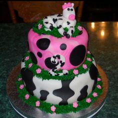 Birthday cow cake