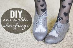 DIY shoe fringe