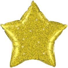 Gold Star Crystalgraphic Foil Balloon