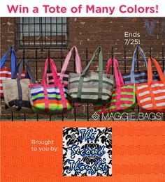 Giveaway: Win a Tote of Many Colors from The Second Thought! #MaggieBags #seatbelthandbags #giveaway
