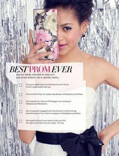 Check-it: Nordstrom BP. Prom Checklist