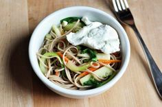 #Recipe: Soba Noodles with Wilted Bok Choy
