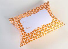 Orange Printable Pillow Box. How About Orange