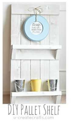 DIY Pallet Shelf & Free Printable