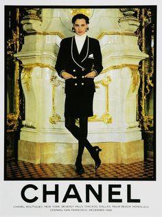 Chanel ad, 1980s.