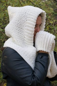 Woodland Hooded Scarf Crochet Pattern - Winding Road Crochet