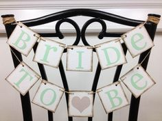 Bride To Be Banner - Bride To Be Chair Sign - Bridal Shower Decorations - Bridal Shower Banners - Bachelorette Party CUSTOMIZE YOUR COLORS. $20.00, via Etsy.