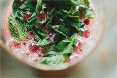 strawberry grapefruit vodka smash w/ fresh mint