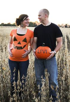 I'm gonna be so big for our annual Great Pumpkin Date! May have to do a photo like this!