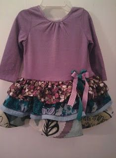 Repurposed - T-shirt into a dress.  http://unleashingcreativitywithin.blogspot.com/2010/11/refashioning-for-bunny-baby.html