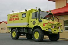 US Naval Air station Reykjavik Mercedes Benz Unimog Ambulance