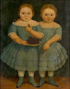 Portrait de 2 Soeurs. Auteur inconnu