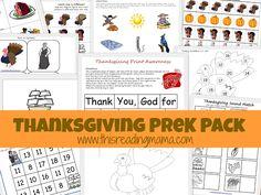 Thanksgiving PreK Pack {This Reading Mama}