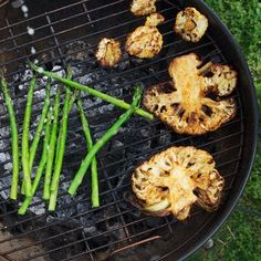 memorial day grilling, grill cauliflow, vegetables on the grill, memory foods, cauliflower grilles