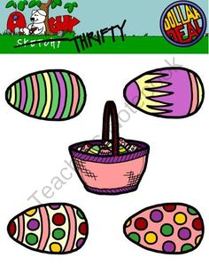 spring holiday easter egg clipart graphics 300dpi color b amp w gray