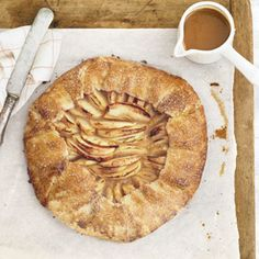 Rustic Apple Galette with Butterscotch Sauce