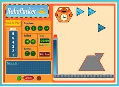 ONLINE MATH RESOURCE~  Robo Packer math game for 3-5.