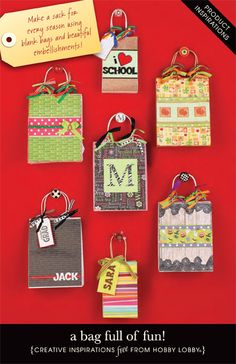 Try your hand at a world of designer gift sacks. We've got all the supplies and easy project ideas to get you started!